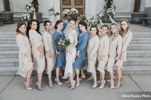 Lexie_Neil_Utah_State_Capitol_Salt_Lake_City_Utah_Bride_Bridesmaids_Bouquets_in_Air_Outside_Bountiful_Temple.jpg