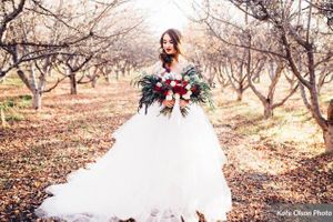 Apple Orchard with Bride