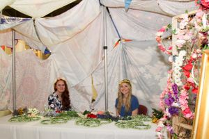 Higher_Education_User_Group_2018_Salt_Palace_Convention_Center_Salt_Lake_City_Utah_Flower_Crown_Booth_Happy_Assistants.jpg