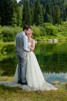 Ashley_Dan_Solitude_Resort_Solitude_Utah_Bride_Groom_Embracing_Near_Mountain_Lake.jpg