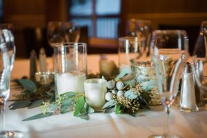 Julia_Mark_Silver_Lake_Lodge_Deer_Valley_Resort_Park_City_Utah_Dinner_Table_Detail_Candles_With_Evergreen_Accents.jpg