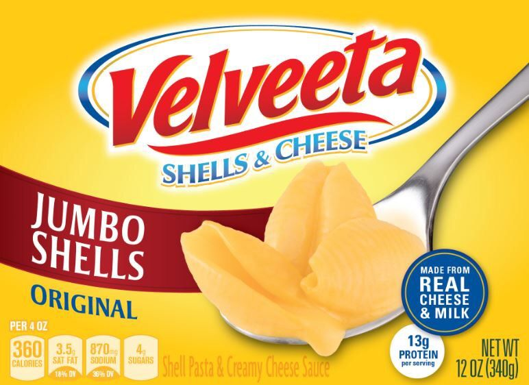 Velveeta Shells & Cheese Packaging Photo