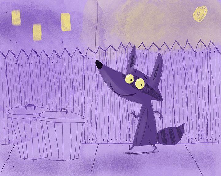 Nightime Racoon
